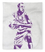 James Worthy Los Angeles Lakers Pixel Art Fleece Blanket