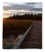 Jamestown Forest Loop Sunset Fleece Blanket