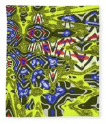 Janca Abstract # 6731eac1 Fleece Blanket