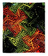 Janca Abstract Panel #5473w3 Fleece Blanket