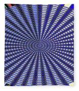 Janca Blue Oval Abstract 9646w11 Fleece Blanket