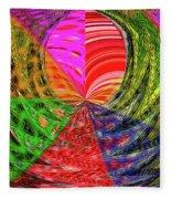 Janca Colors Panel Abstract # 5212 Wtw7 Fleece Blanket