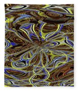 Janca Oval Abstract 4917 W3a Fleece Blanket