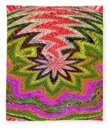 Janca Pink Color Panel Abstract #5212 Wtw6 Fleece Blanket