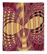 Janca Red And Yellow Abstract  Fleece Blanket