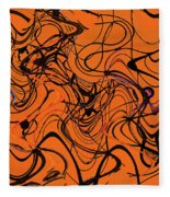 Janca Red Power Tower Abstract Fleece Blanket
