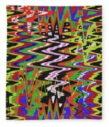 Jancart Drawing Abstract #8455wt Fleece Blanket