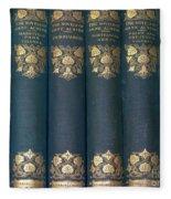 Jane Austain Books Fleece Blanket