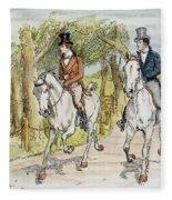 Jane Austen: Illustration Fleece Blanket