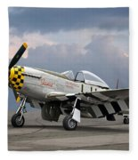 Janie P-51 Fleece Blanket