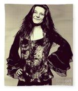 Janis Joplin, Music Legend Fleece Blanket