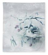 January Bluejay  Fleece Blanket