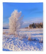 January Day Fleece Blanket