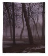January Fog 1 Fleece Blanket