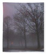 January Fog 3 Fleece Blanket