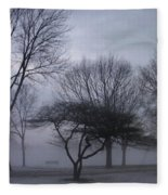 January Fog 6 Fleece Blanket