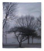 January Fog 6 Fleece Blanket