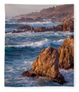 January In Big Sur Fleece Blanket