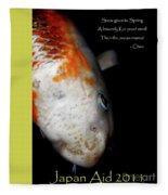 Japan Aid 2011 . All Proceeds Go To Japan Earthquake And Tsunami Relief Aid Fleece Blanket