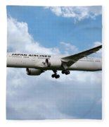Japan Airlines Boeing 787 Dreamliner Fleece Blanket