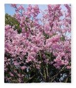 Japan Blossoms Fleece Blanket