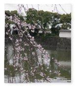 Japan Cherry Tree Blossom Fleece Blanket