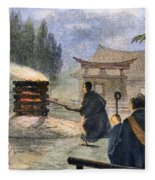 Japan: Cremation, 1890 Fleece Blanket