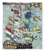 Japan: Dutch Ship Fleece Blanket