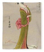 Japan: Geisha, C1794 Fleece Blanket