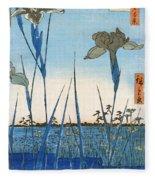 Japan: Iris Garden, 1857 Fleece Blanket