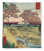 Japan: Maple Trees, 1858 Fleece Blanket