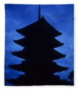 Japan Pagota Fleece Blanket