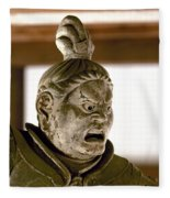 Japan: Warrior Statue Fleece Blanket