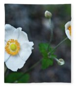 Japanaese Anemone Fleece Blanket