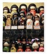 Japanese Dolls Fleece Blanket