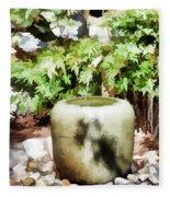 Japanese Garden 6 Fleece Blanket