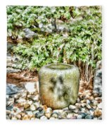 Japanese Garden 7 Fleece Blanket