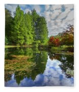 Japanese Garden Pond I Fleece Blanket