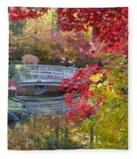 Japanese Gardens Fleece Blanket