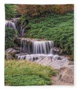 Japanese Gardens Waterfall Fleece Blanket