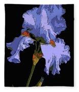 Japanese Iris-blue Beauty Fleece Blanket
