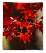 Japanese Maple Leaves Fleece Blanket