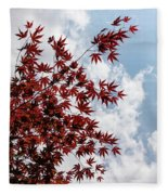 Japanese Maple Red Lace - Vertical Up Right Fleece Blanket