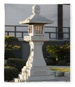 Japanese Stone Pagoda Fleece Blanket
