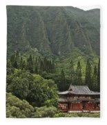 Japanese Temple Fleece Blanket