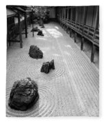 Japanese Zen Garden Fleece Blanket