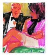 Jacque And Christine Fleece Blanket