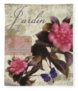 Jardin De Roses Fleece Blanket