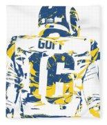 Jared Goff Los Angeles Rams Pixel Art 2 Fleece Blanket