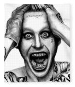 Jared Leto As The Joker Fleece Blanket